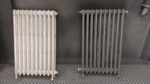 Sablage radiateur avant - après
